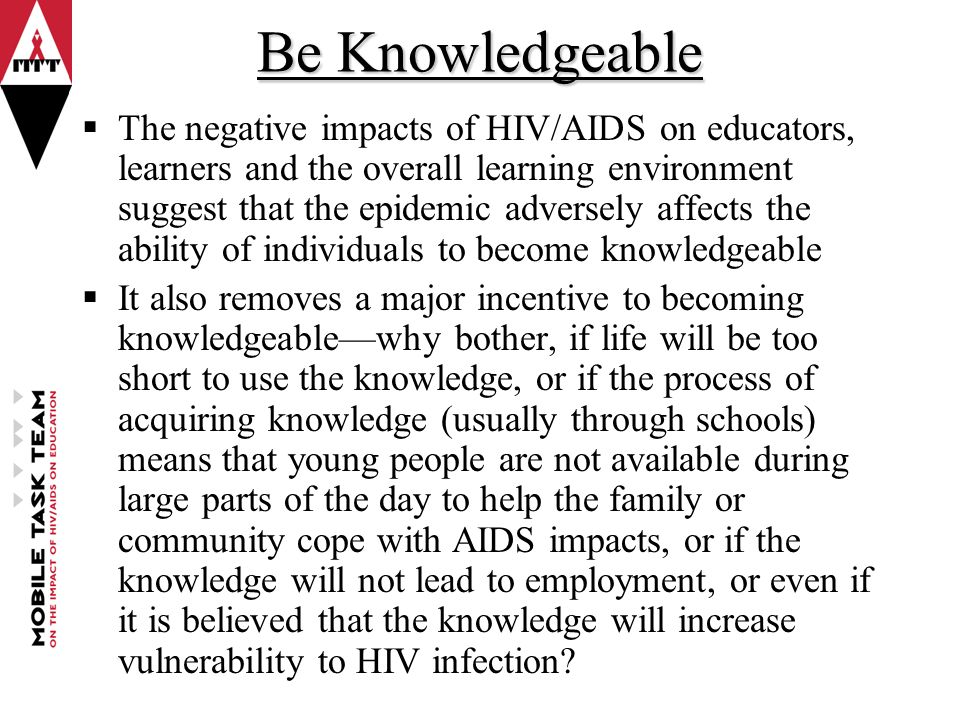 hiv affected parents Families affected by hiv: parents' and children's characteristics and disclosure to the children.