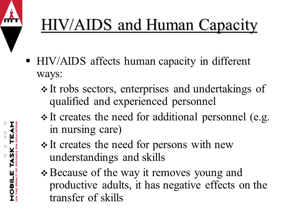 the effects of aids The aim of this paper is to analize the economic impact associated to the hiv/ aids in an european context we conducted a systematic.