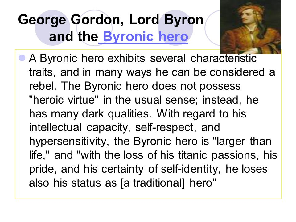 english literature for english major juniors ppt video online  george gordon lord byron and the byronic hero