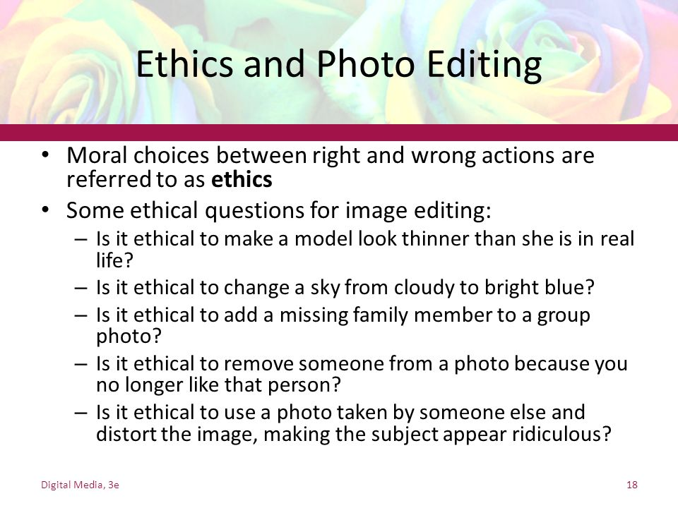 Ethics and Photo Editing