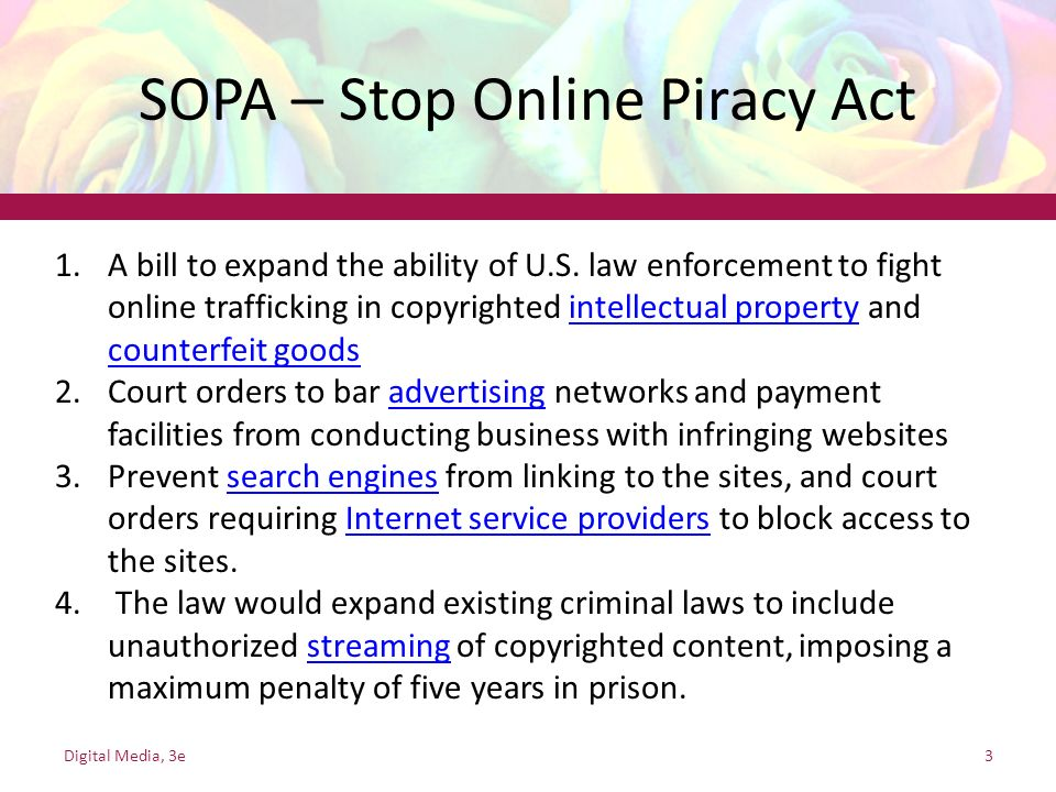 SOPA – Stop Online Piracy Act