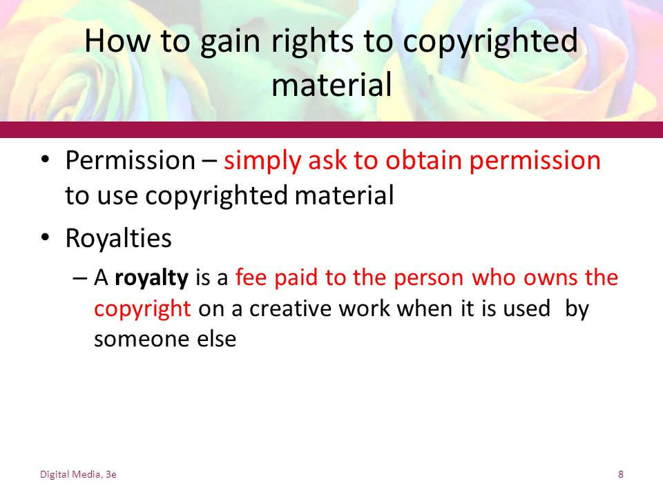 How to gain rights to copyrighted material