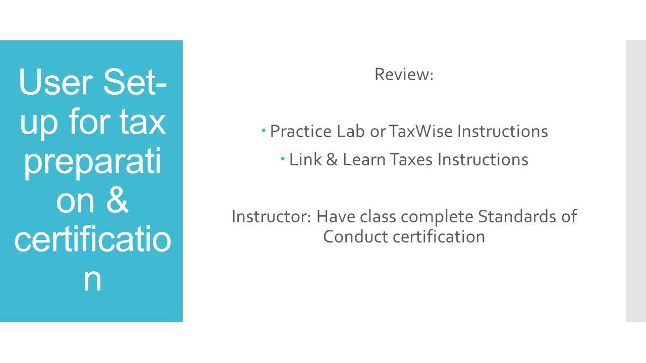 Eks training ppt video online download user set up for tax preparation certification xflitez Images