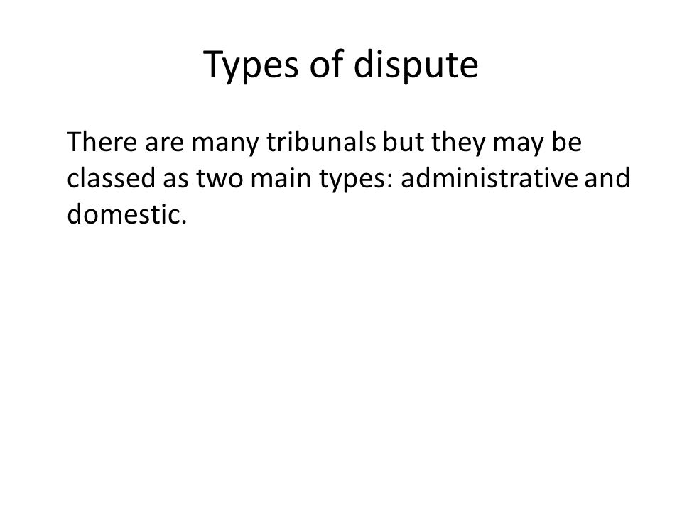 domestic tribunals Domestic tribunals is somewhat similar to the administrative tribunals they are associated with many professions and trades it is another area in which persons or.