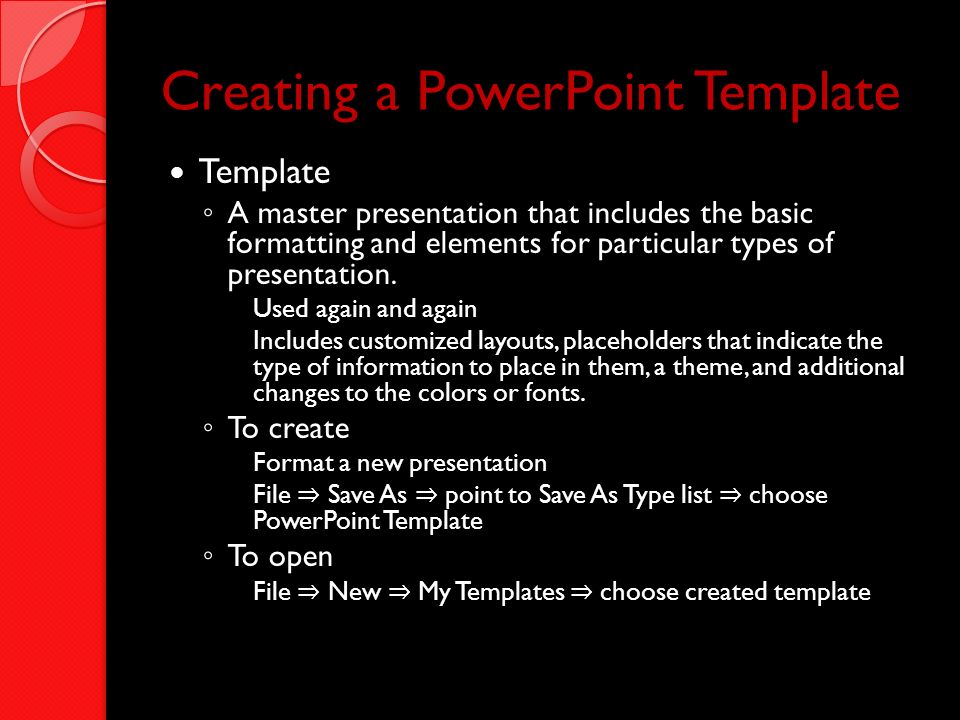 Creating a PowerPoint Template