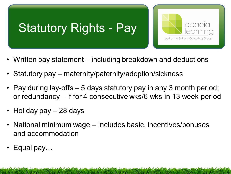 Employment Law (5ELW) GOSH Weekdays Tristan Callaghan ...