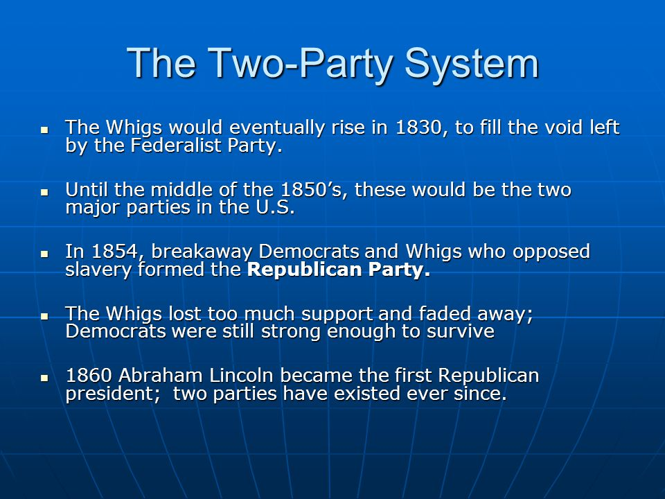 the development of the two party
