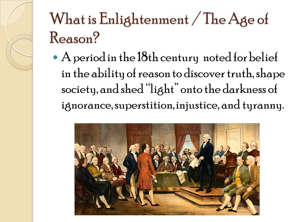 The transition from the puritan period to the age of reason in america