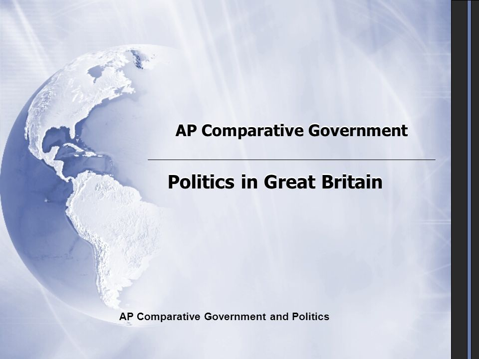 ap comparative government The ap comparative government and politics course is designed to introduce  students to a variety of political institutions through examining issues such as.