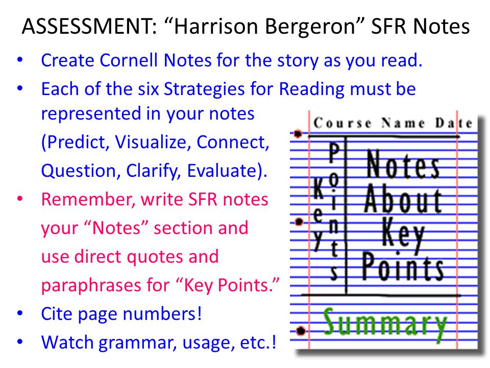 ASSESSMENT: Harrison Bergeron SFR Notes