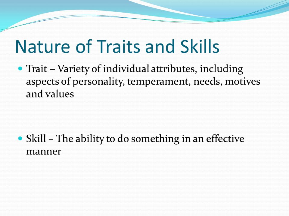 leadership do traits matter Leadership: do traits matter academy of management executive, 5,  a leadership methodology: actions, traits, and skills that result in goal achievement.
