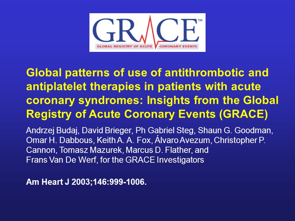 Global patterns of use of antithrombotic and antiplatelet therapies in patients with acute coronary syndromes: Insights from the Global Registry of Acute Coronary Events (GRACE)