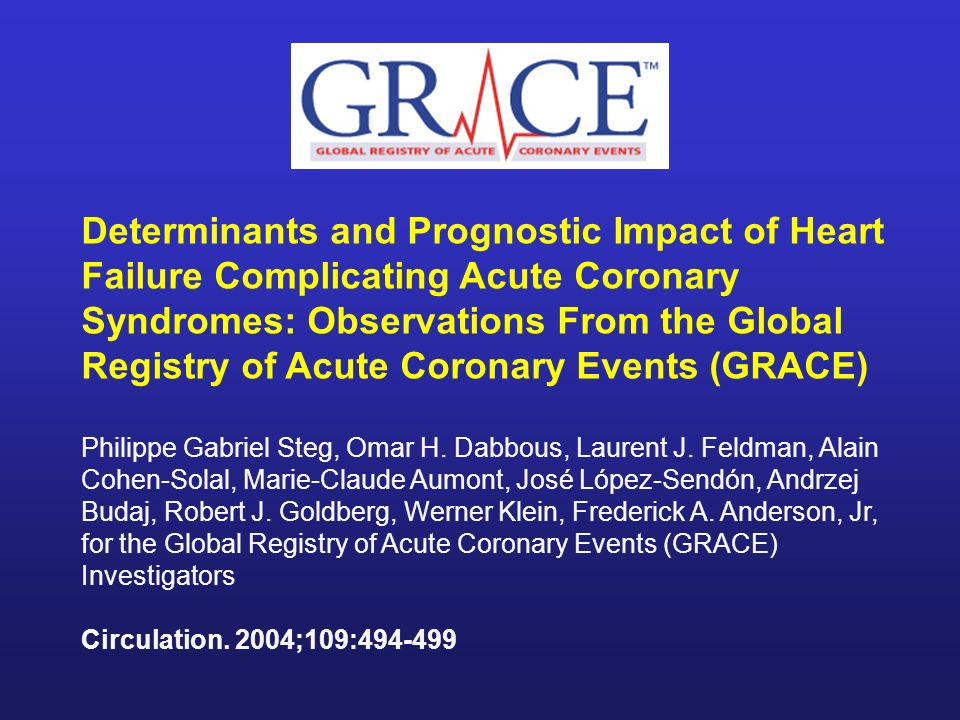 Determinants and Prognostic Impact of Heart Failure Complicating Acute Coronary Syndromes: Observations From the Global Registry of Acute Coronary Events (GRACE)