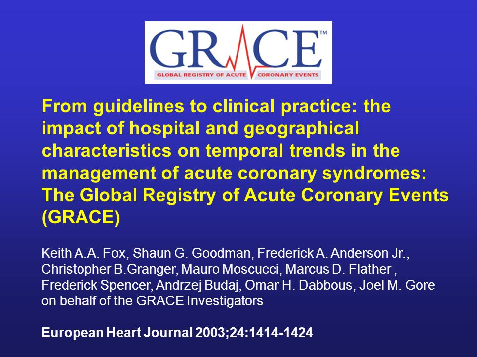 From guidelines to clinical practice: the impact of hospital and geographical characteristics on temporal trends in the management of acute coronary syndromes: The Global Registry of Acute Coronary Events (GRACE)