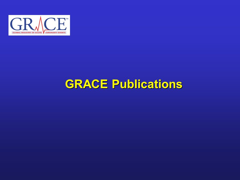 GRACE Publications