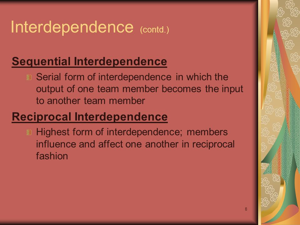 Interdependence (contd.)