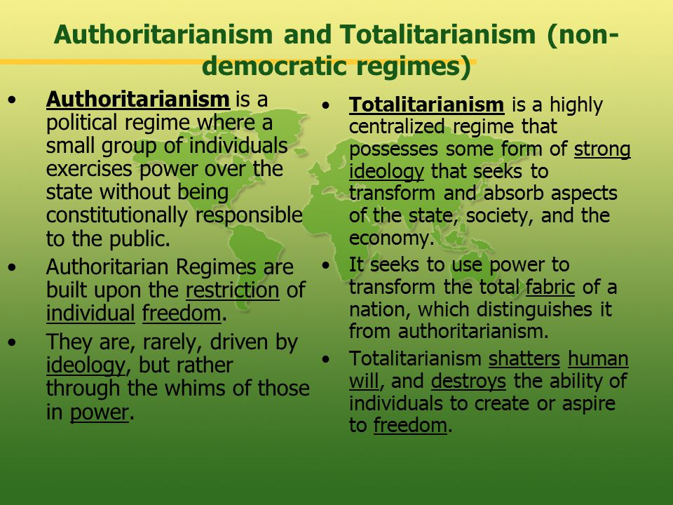 Authoritarianism and Democracy - ppt video online download