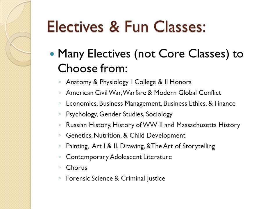 Electives Include Courses In Russian