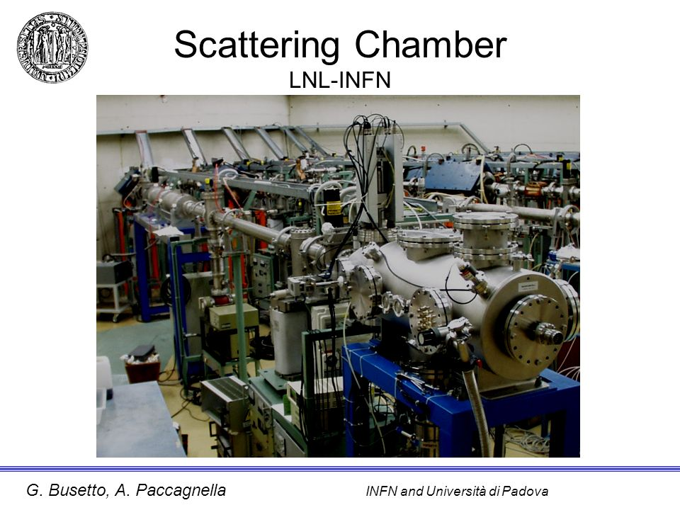 Scattering Chamber LNL-INFN