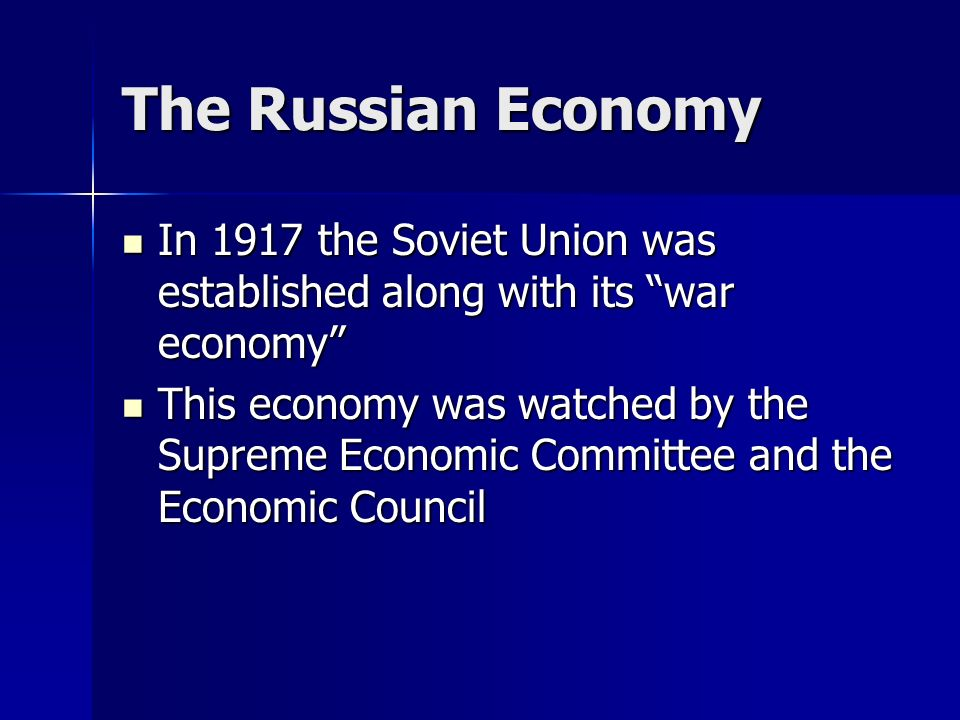 An Overview of the Soviet Economy