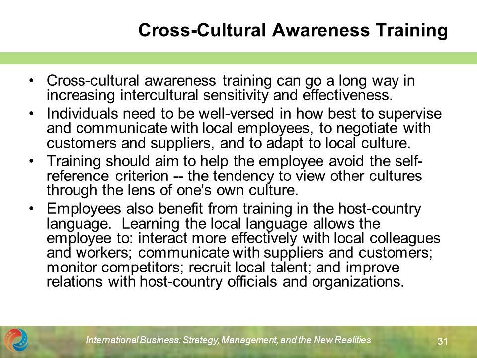 benefits of cross cultural training pdf