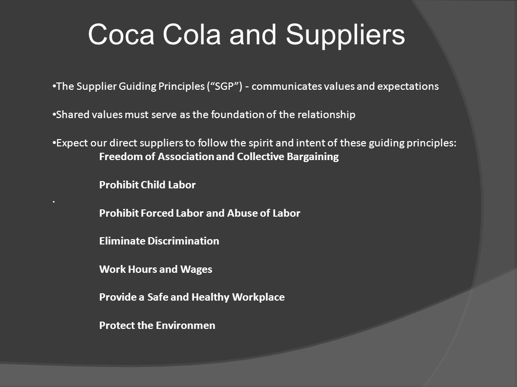 coca cola and enterprises relationship