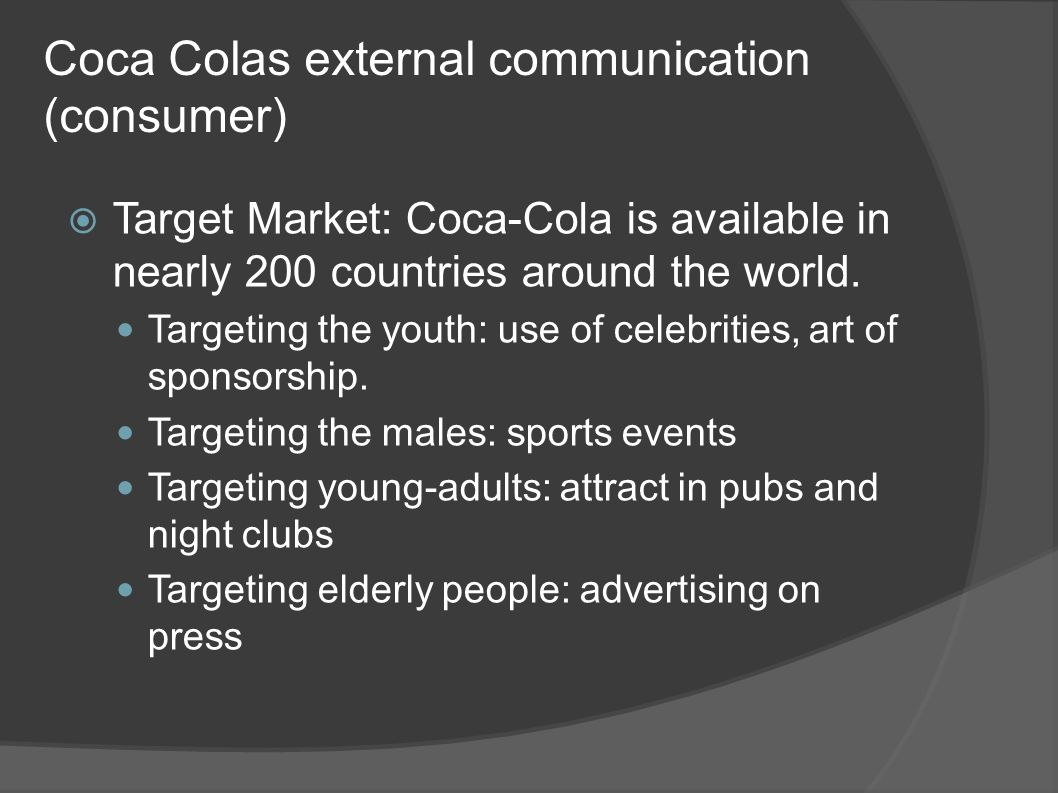 Coca Colas external communication (consumer)