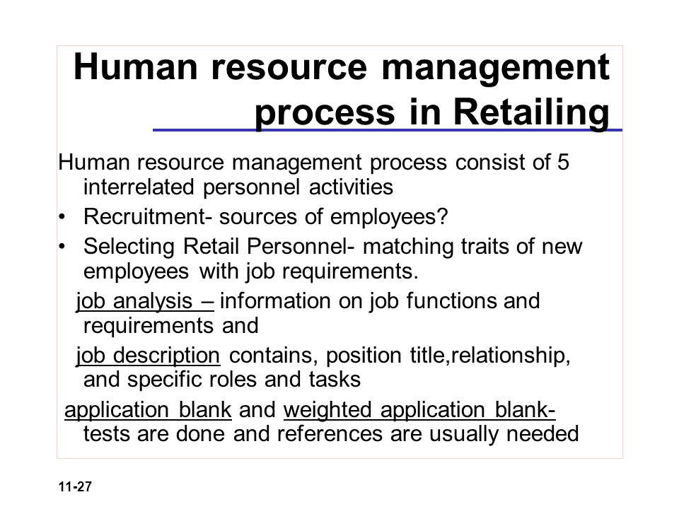 Retail Organization And Human Resource Management  Ppt Video