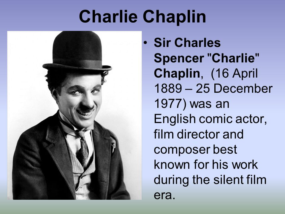 The film life and works of charlie chaplin