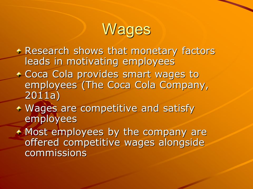 The Motivation Theory Used Within the Coca-Cola Company