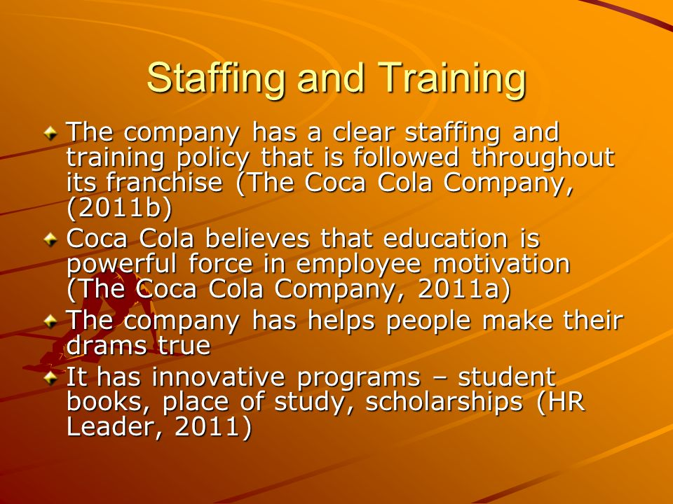 hr issues of coca cola company Hrm coca cola - authorstream presentation hrm coca cola ethical issue of coca cola: work place rights policy coca cola the workplace rights policy applies to the coca-cola company and all of the entities that it owns or in which it holds a majority interest.