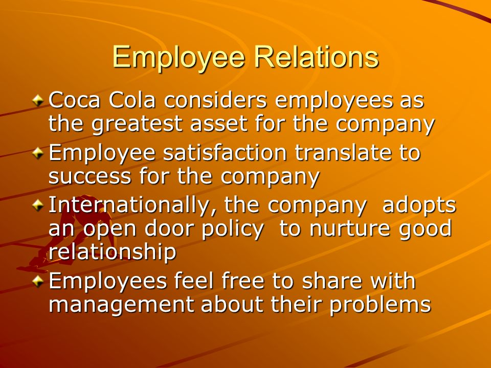 hr issues of coca cola company Senior hr administration assistant recruitment in lagos, nigeria for qualified   the coca-cola company is the world's largest beverage company and  and  anticipate and resolve administrative issues that may hinder the.