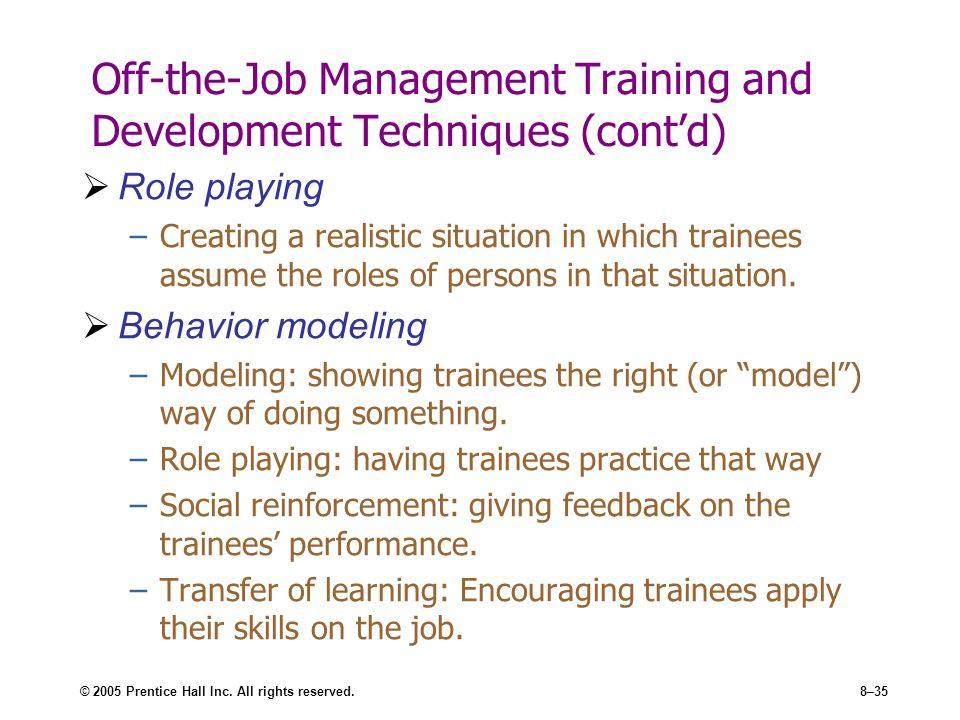 role of training and development manager Management development the publication is available online at challenges to further develop their key role as provider of high-quality information on economic human resources management and training (hrmt.