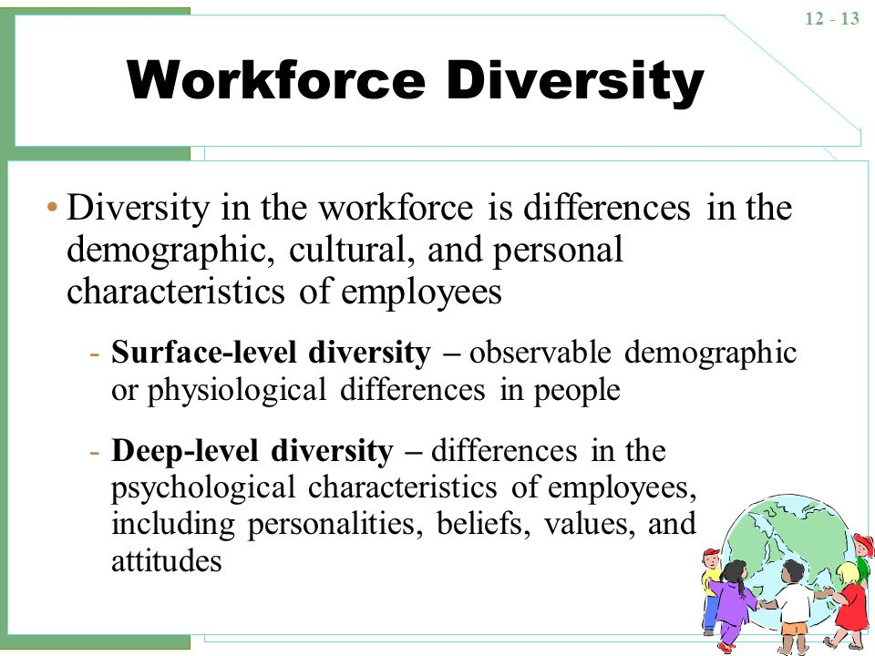 a look at the importance of diversity in the workforce If you take a moment to look around, you will notice the rich cultural diversity of our cities  diversity as a competitive advantage  workforce 2020: work and .