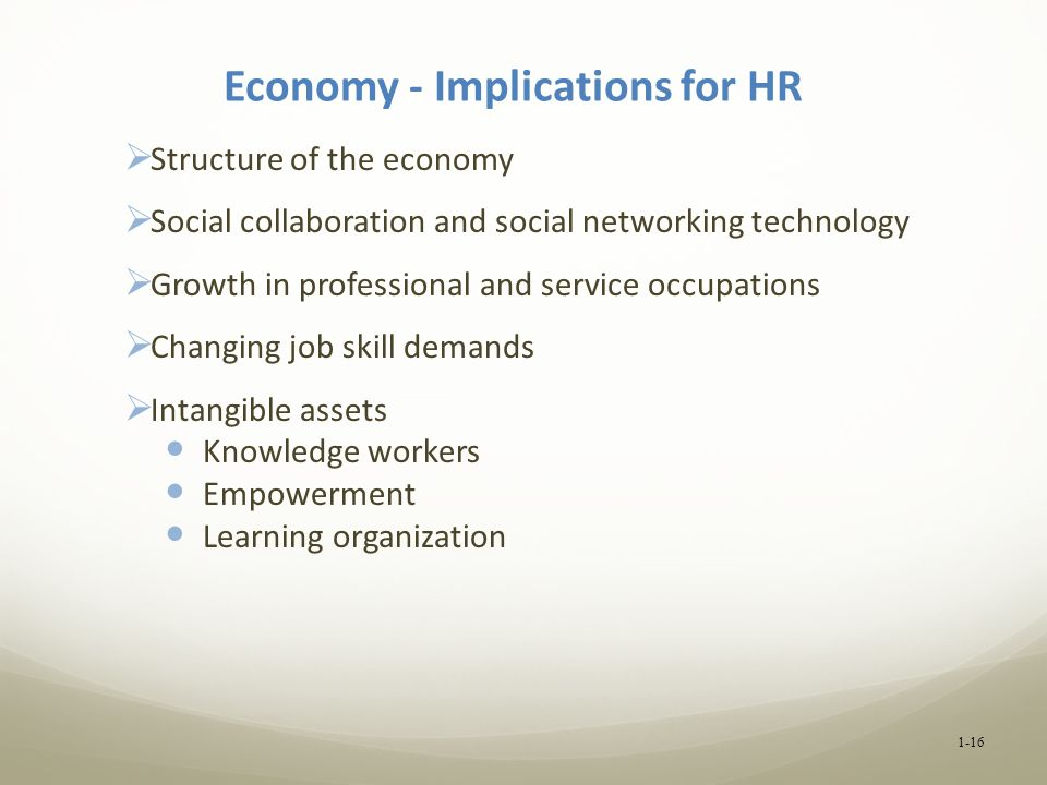 Economy - Implications for HR