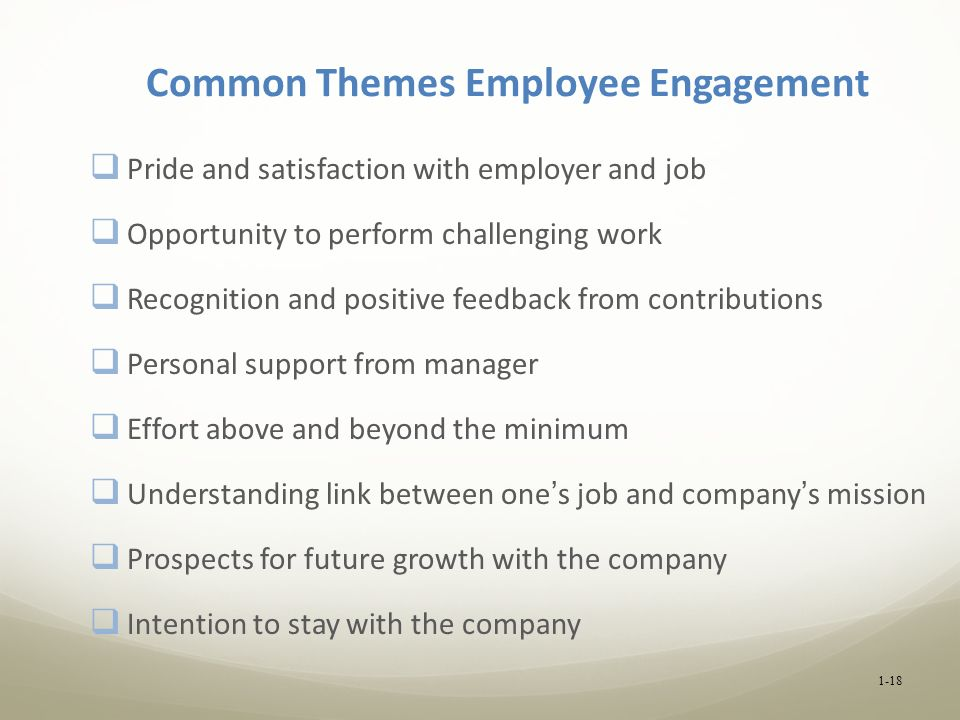 Common Themes Employee Engagement