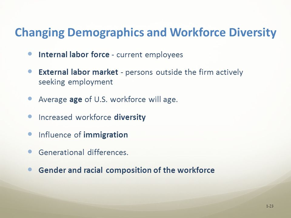 Changing Demographics and Workforce Diversity