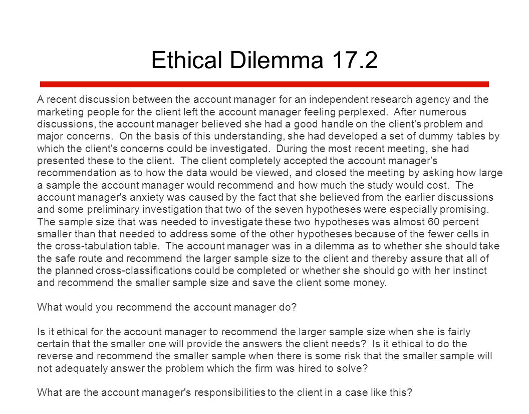 hypothetical treatment of ethical dilemma essay Analysis of ethical dilemma in this essay, we will assess an ethical dilemma that may arise from such a situation hypothetical case, context and dilemma description.