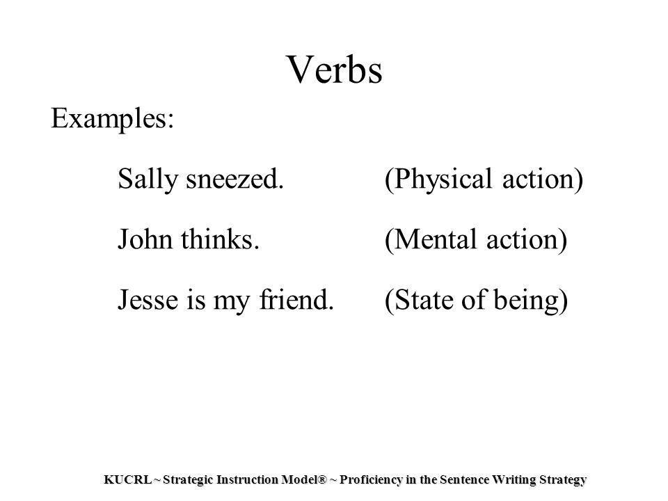 how to teach state of being verbs