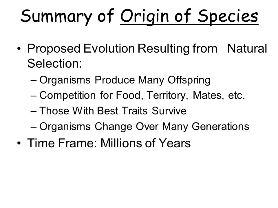 origin of species summary essay On the origin of species this, certainly the most important biological book ever written, has received detailed bibliographical treatment in morse peckham's.