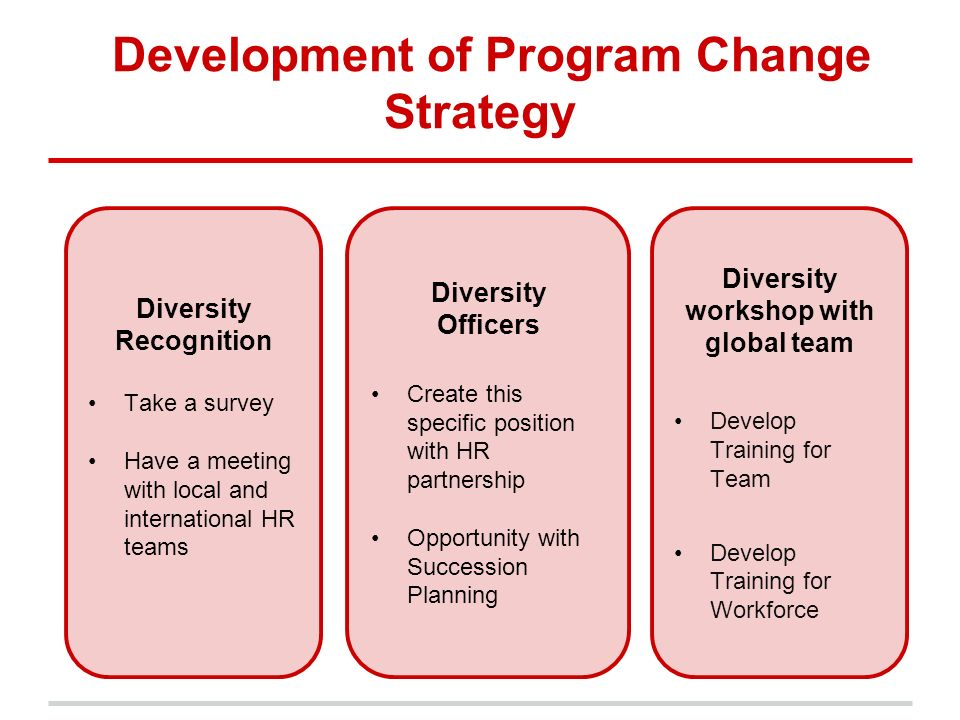 Global diversity management