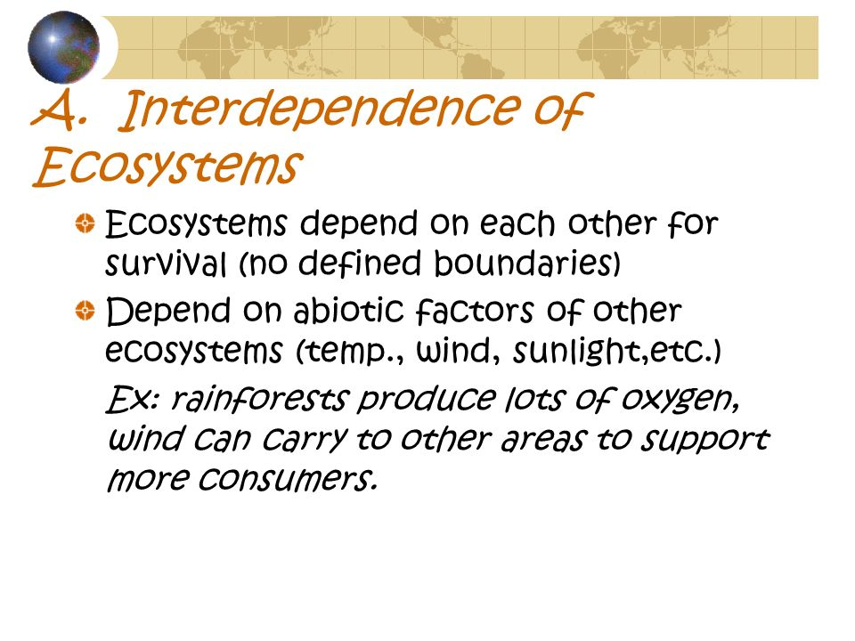 A. Interdependence of Ecosystems