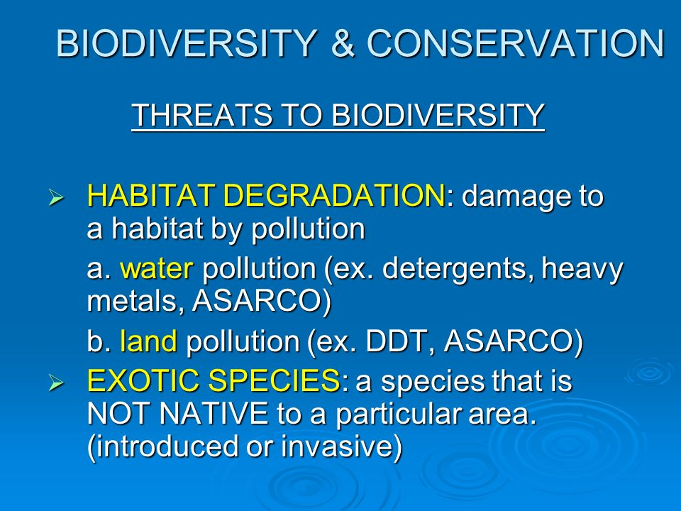 biodiversity threats and conservation pdf