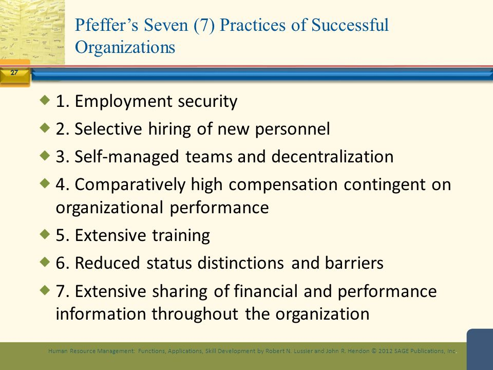 Seven practices of successful organizations
