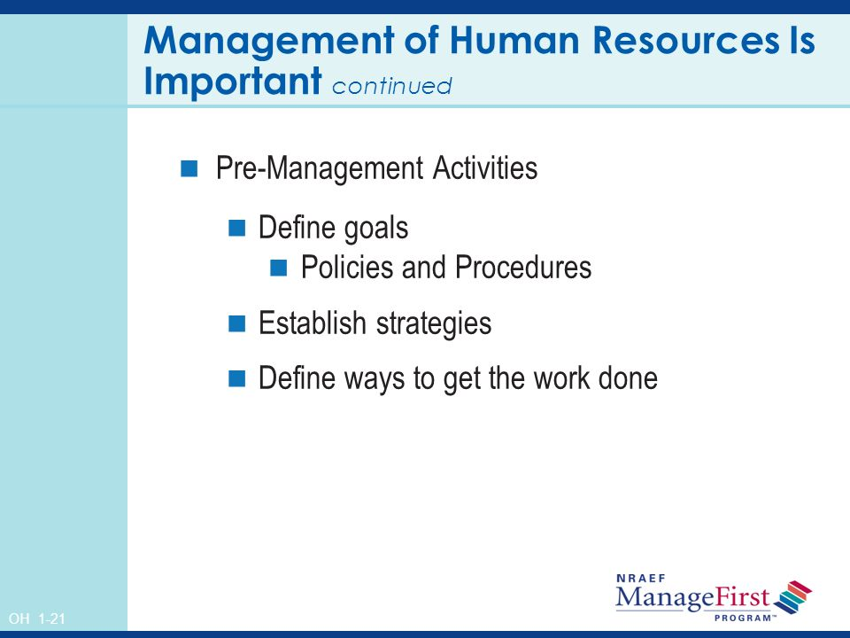 Human based management is important