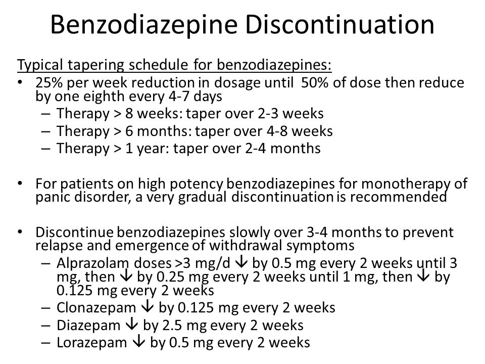 klonopin taper schedule 2mg