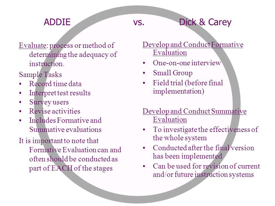 dick and carey instructional design model