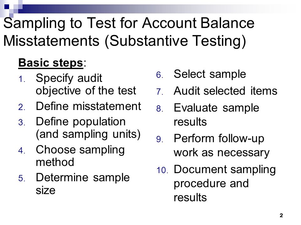 how to choose test sample size