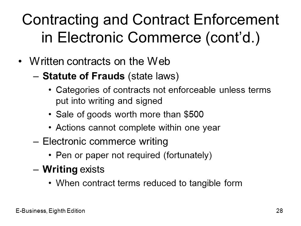 electronic contracts essay Ucc article 2,sales and article 2a, leases (2003) summary building upon the familiar law of sales contracts with provenance back to the original uniform sales needs to be updated, and 2003 is the occasion for a needed update electronic transactions are a major reason for.