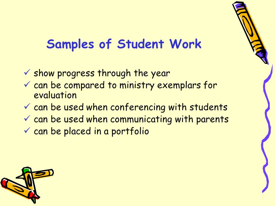 Samples of Student Work